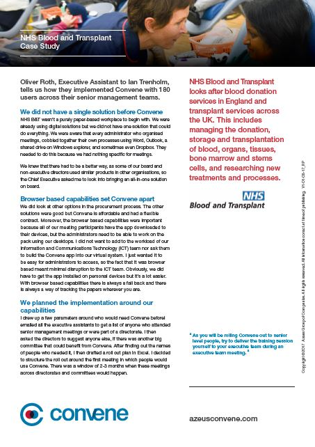 NHS Blood and Transplant Implementation case study