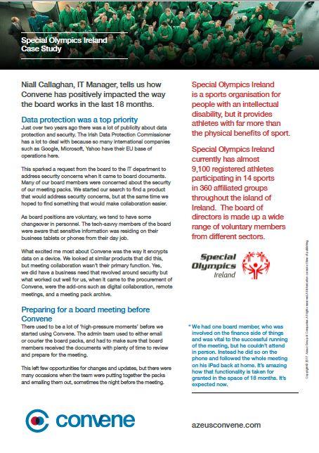 Special Olympics Ireland case Study