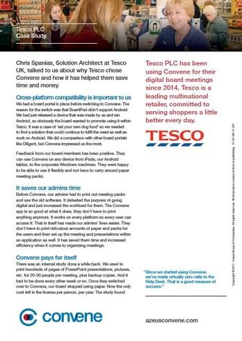 Tesco PLC Case Study
