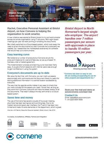bristol airport digital meeting app
