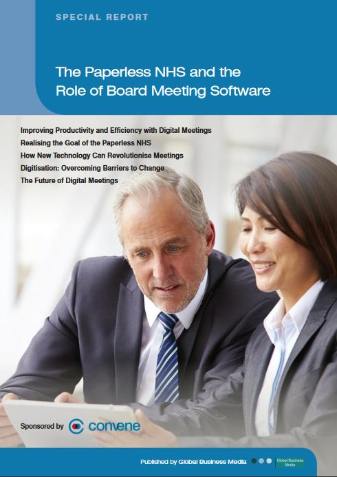 Paperless NHS magazine sponsored by azeus convene the digital meeting application