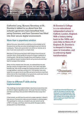 digital clerking at academic institutions with convene