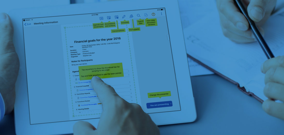 Have sustainable meetings with Convene's digital meeting solution