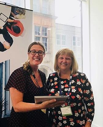 Gemma Walford of Azeus Convene and Penny Huggard of Futures Housing Group