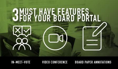 3 board portal features